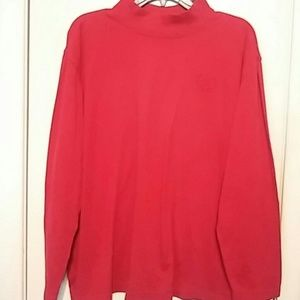 fef30983590 Blair Tops - Red long sleeve plus size with high collar